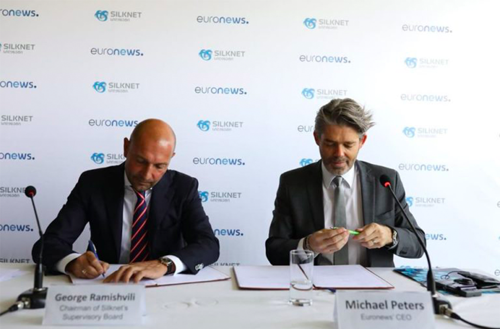 "Euronews and Silknet sign an MOU to launch ""Euronews Georgia"""